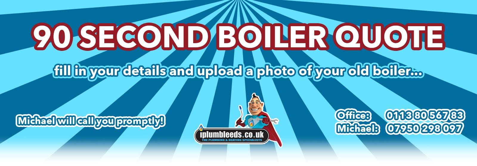 iPlumb 90 second boiler quote service