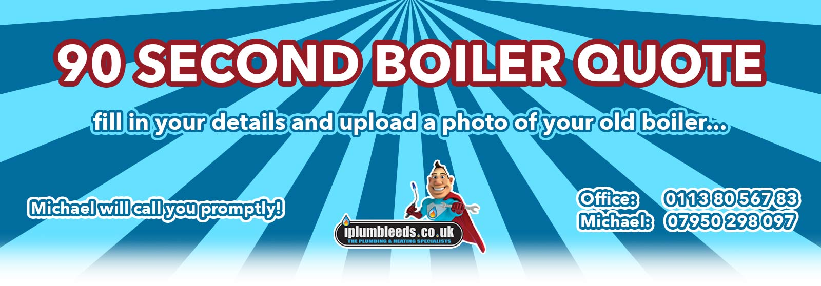 iPlumb 90 second boiler quote service