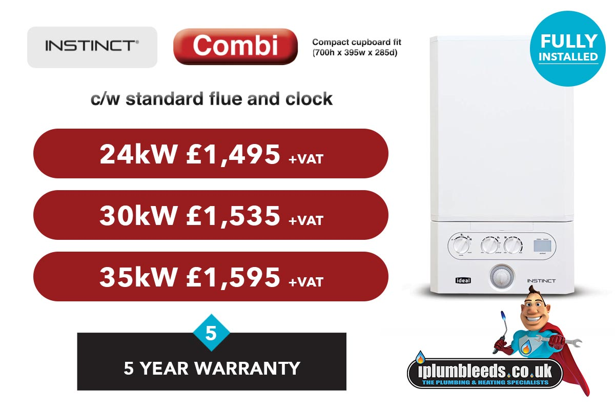 Ideal Instinct boiler offers from iPlumb Leeds