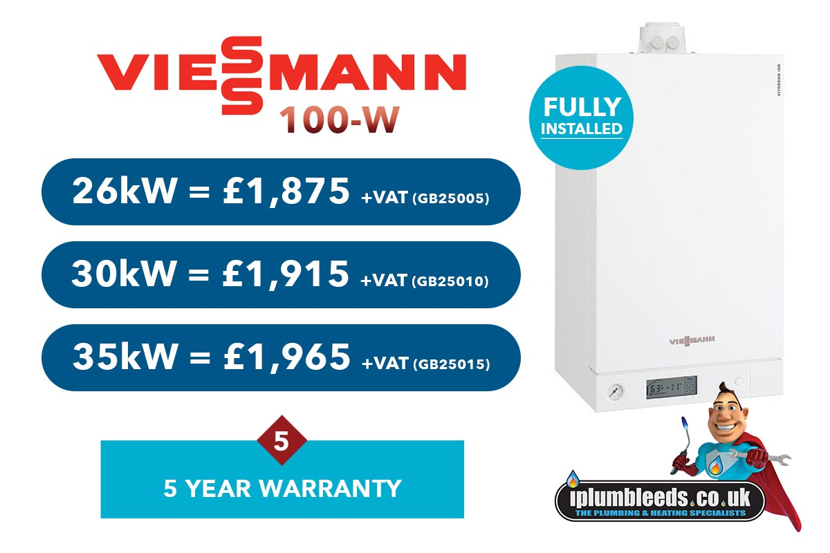 Viessmann 100-W boiler offer from iPlumb Leeds