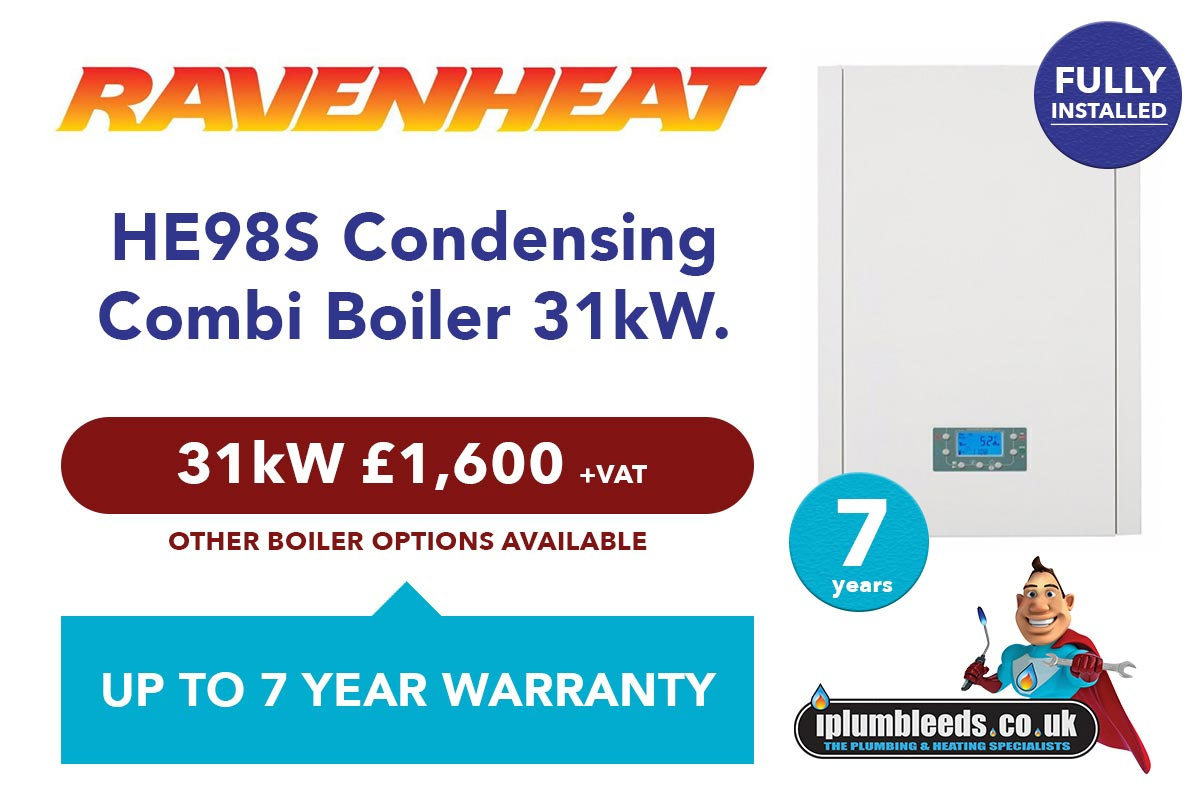 Ravenheat HE98S Combi boiler offer from iPlumb Leeds