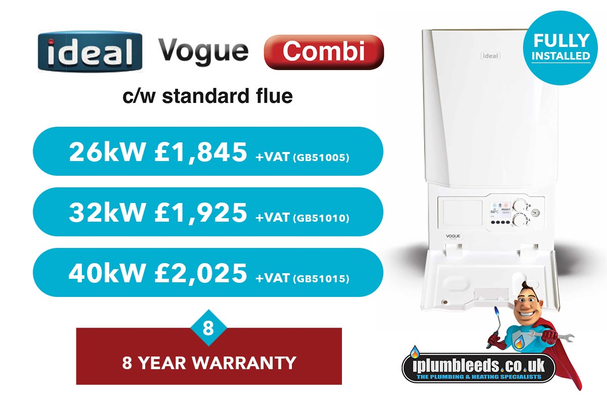 Ideal Vogue boiler offer from iPlumb Leeds