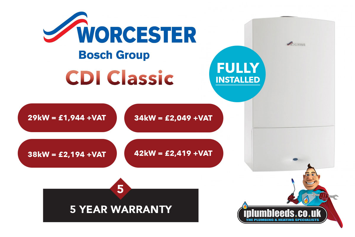 Worcester Bosch boiler offers from iPlumb Leeds