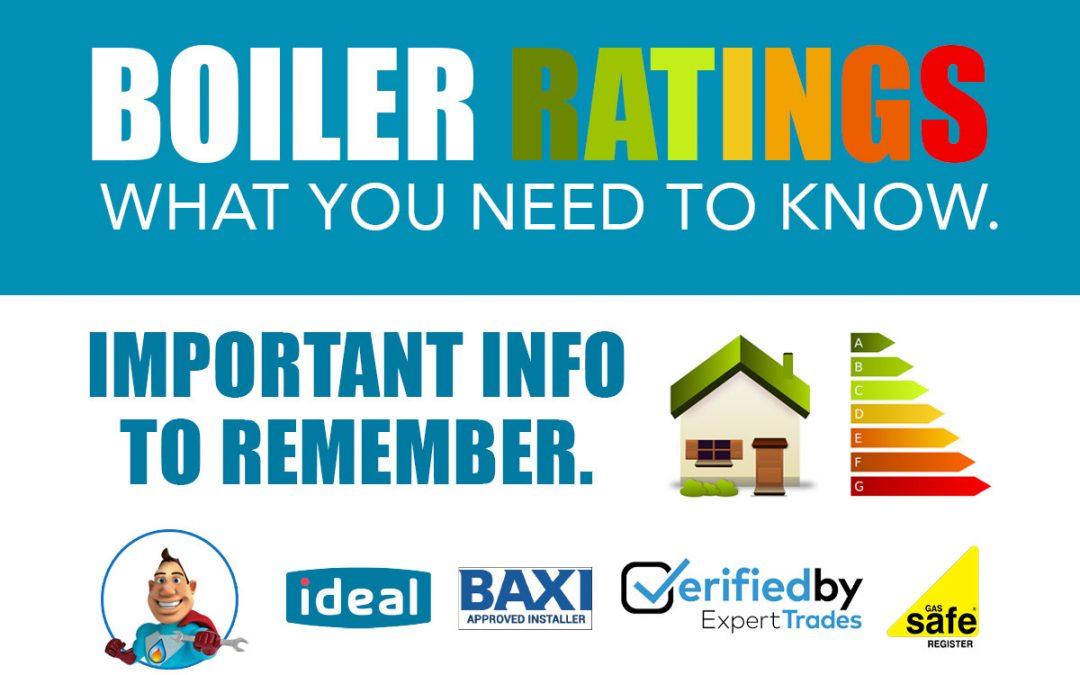 Boiler Ratings iPlumb Leeds UK